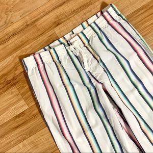 Love by GAP Rainbow Stripe Poplin Pajama Pants